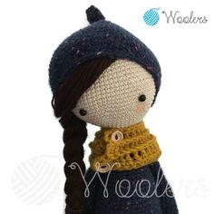 Moon girl inspired by Lalylala / Crochet Doll / Handmade Amigurumi / Amigurumi animal von WoolersPL auf Etsy