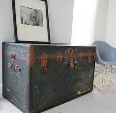 steamer trunk-- coffee table