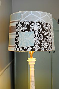 The Painted Home: { DIY Fabric Covered lampshade }