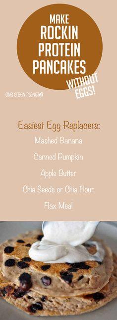 How to Make Rockin' Vegan Protein Pancakes Without Eggs!