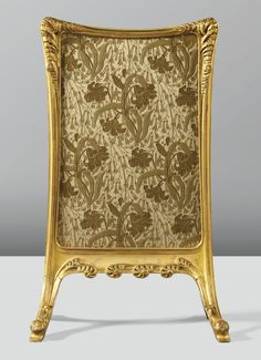 Louis Majorelle gilt bronze firescreen.