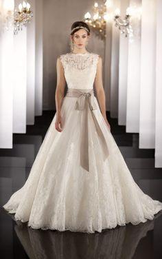 437 Keyhole Back Wedding Dress by Martina Liana