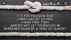 Galatians - NIV Bible - It is for freedom that Christ has set us free. Niv Bible, Bible Quotes, Favorite Bible Verses, Favorite Quotes, Christian Life, Christian Quotes, Scripture For Today, Forgiving Yourself, God Jesus