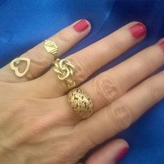 Classic vintage gold rings....never out of style 💫