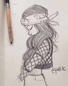 Art Drawings Sketches Simple, Girl Drawing Sketches, Girly Drawings, Pencil Art Drawings, Cartoon Drawings, Drawing Ideas, Girl Drawing Easy, Cool Sketches, Creative Sketches