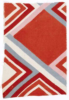 Sonia Delaunay, Tissu simultané no. 186, 1926, block-printed cotton, Musée de l'Impression sur Étoffes, Mulhouse, 980.549.17, © L & M SERVICES B.V. The Hague 20100623