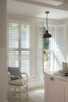 Create a stylish sense of grandeur and scale with Luxaflex® light control interior shutters. Span the entire height of your window in a timeless plantation look that works with modern or classic window styles and interiors. Home, Window Design, Windows, Interior, Window Shutters Indoor, House, Wood Doors Interior, Indoor Shutters, Doors Interior