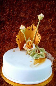 gold birthday - cake by mnamka_smizany