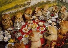 Kittens Having Tea and Squirrels Dueling