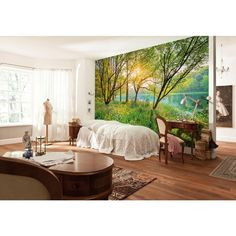 Komar 145 in. x 100 in. Spring Lake Wall Mural-8-524 - The Home Depot