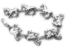 Heavy Horses Sterling Silver HORSE Link Bracelet #SilverInsanity