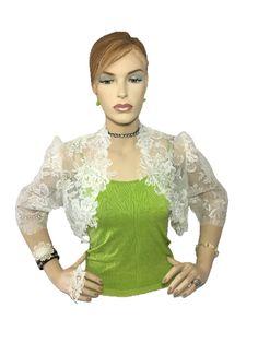 Womens Sheer Ivory Bridal Lace Boleros, shrugs by TvalFashion on Etsy