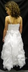 CHERYL A6-7A04X White Ruche Communion Dress
