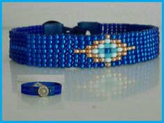 Blue Bead loom Bracelet-Muslim Eye of God by VatArt Bead Loom Bracelets, Woven Bracelets, Loom Beading, Beading Patterns, Beading Techniques, Beaded Jewelry, Unique Jewelry, Beading Projects, Blue Beads