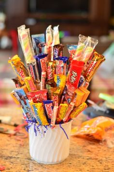 Teacher gift idea -  Tutorial: Candy Bouquet