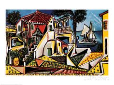 オールポスターズの パブロ・ピカソ「地中海の風景 1952年」高品質プリント