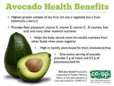 Avocado Benefits Infographic: Make a delicious avocado banana smoothie!