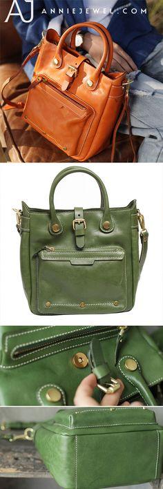 84a6642dbe05 Handmade Orange Leather Satchel Handbags Tote Purses. Кожаные Сумки, Кожаная  Сумка ...
