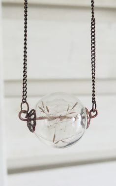Dandelion orb necklace