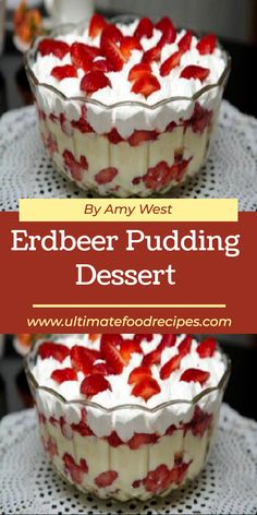 Pudding Desserts, Köstliche Desserts, Dessert Recipes, Vegan Ice Cream, Whipped Cream, Canned Blueberries, Scones Ingredients, Custard Powder, Creative Desserts