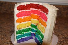 mini rainbow cake