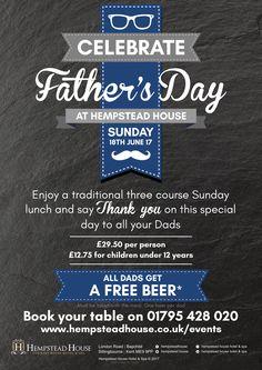#FathersDay #HempsteadHouse #HempsteadHouseHotel #Kent