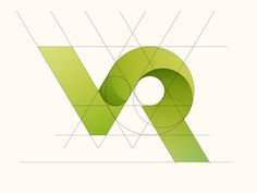 VR Logo Construction by Yoga Perdana Popular - Design Web Design, Graphic Design, Icon Design, Logo Desing, Branding Design, Logo Design Trends, Corporate Branding, Logo Branding, Brand Identity