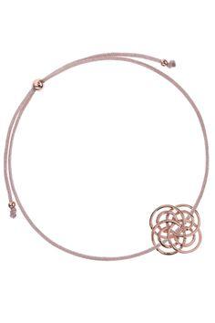 armband textil beige viele kreise rose vergoldet circle