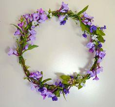 Purple Floral Crown Bridal Head Wreath Lavender Crown