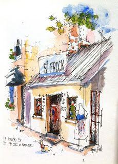 Urban Sketchers Australia: Urban Sketching at Pyrmont in my new Sketchbook