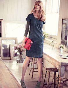 Boden USA~Stitch Detail Dress~They pretty much did this dress last season but still love it. $98.00