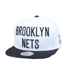 Mitchell   Ness Brooklyn Nets NBA Throwback Hat- White 7beeec6af0c9