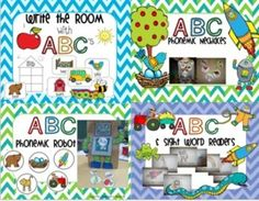 ABC Phonemic Fun {Bundled} is well over 300 pages of my four favorite phonemic and letter activities.  Save BIG when you buy the bundle!Write the Room ABC's:Write the room ABC's has everything you need for fun and easy writing centers for your students.