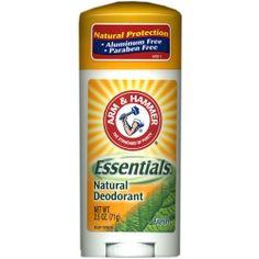 Arm & Hammer Essentials Deodorant, Fresh, 2.5 Oz/pack, 4 pack by Arm & Hammer, http://www.amazon.com/dp/B001CI6RQK/ref=cm_sw_r_pi_dp_Qc3fqb1F6ANBP