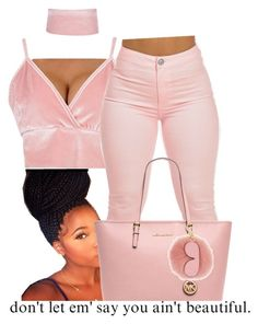 """🌸"" by fashionkilla-lex ❤ liked on Polyvore featuring Boohoo and MICHAEL Michael Kors"