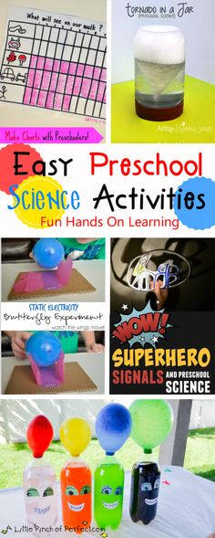 Science Activities are one of the best things to do with preschoolers to keep them engaged in learning. They allow hands on learning while exploring their natural curiosity. As part of the Creative Preschoolers team, I am excited to share with you a whole bunch of EASY science activities for you and your preschooler.
