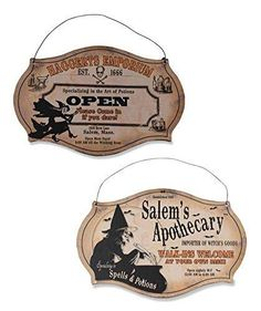 Vintage Inspired Witching Hour Store Miniature Signs