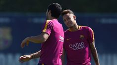 Perhaps as a means of lightening the mood, Luis Suarez taunted Neymar about his new hairdo in training.