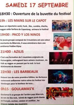 FESTIVAL DES VENDANGES à Puissalicon du 16 au 18 septembre