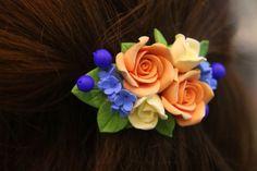 Flower hair clip handmade flowers jewelry floral hair