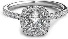 cushion shaped double halo round diamond - Google Search