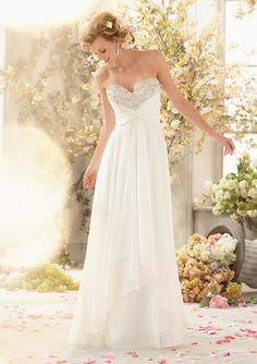 informal wedding dress from Voyage by Mori Lee Dress Style 6773 Sparkling Crystal Beading on Delicate Chiffon