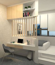 Awesome Small Apartment Bedroom Design Ideas To Try is part of Small bedroom designs - In their desire to save money, newlywed couples usually prefer to live first in small apartments especially if they still […] Small Apartment Bedrooms, Small Apartment Decorating, Small Room Bedroom, Home Bedroom, Bedroom Decor, Teen Bedroom, Master Bedroom, Apartment Living, Dorm Room