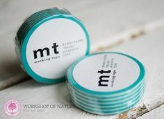 Workshop of Nature - świece sojowe, ekologiczne - artykuły dekoracyjne washi Tape Border Pastel Blue