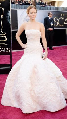 Jennifer Lawrence ♥ Dior at the Oscars
