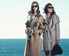 Coat and sunglasses.