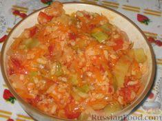Рецепт: Консервированный салат с рисом на RussianFood.com