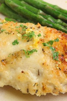 Melt in Your Mouth Chicken Breast  Ingredients Serves 4   4 boneless chicken breast, halves 1 cup mayonnaise 1⁄2 cup parmesan cheese, freshly grated 1 1⁄2 tsp seasoning salt 1⁄2 tsp black pepper, ground 1 tsp garlic powder  Directions Mix mayonnaise, cheese and seasonings. Spread mixture over chicken breast and place in baking dish. Bake at 375°F for 45 minute