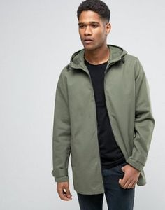 ASOS Lightweight Parka Jacket in Khaki