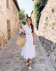 Daily look gal meets glam modest summer fashion, spring summer fashi Modest Summer Fashion, Spring Summer Fashion, Spring Outfits, Summer Dresses, Espadrilles Outfit, Wedges Outfit, Castaner Espadrilles, Girl Meets Glam, Daily Look